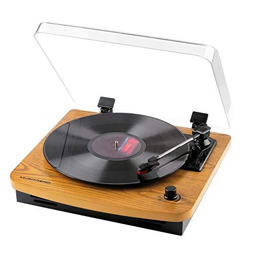 MUSITREND Giradischi a tre velocità 33/45/78 con altoparlante stereo integrato porta di...