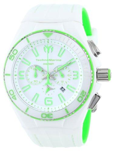 TechnoMarine 113013 - Reloj para hombres, correa de silicona color blanco