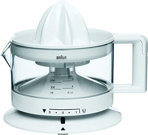 Braun CJ3000 TributeCollection CJ 3000 Presse Agrumes, 20 W, 0.35 liters, Blanc