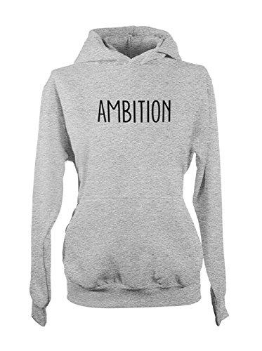 Ambition Power Honor Motivation Femme Capuche Sweatshirt Gris