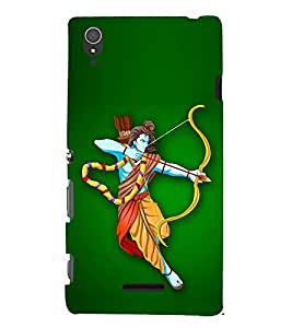 PrintVisa Lord Ram Devotional 3D Hard Polycarbonate Designer Back Case Cover for Sony Xperia T3