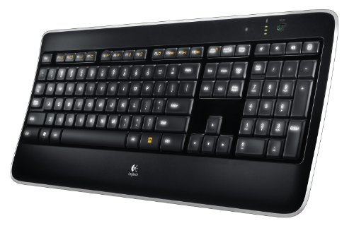 Logitech Tastiera Wireless Illuminated K800, Layout Italiano QWERTY, Nero