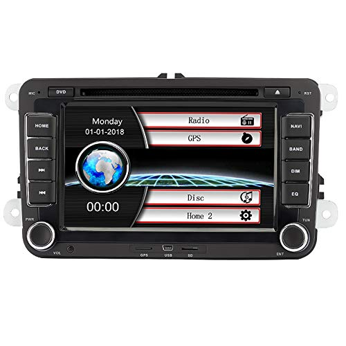 Eunavi Auto GPS-Stereo mit Navigation eunavi 7in 2DIN Auto-DVD-Player für VW PASSAT B6 Golf 5 6 Polo passatcc Jetta Tiguan Touran Eos Sharan Scirocco Caddy HD mit GPS Sat Navi Karte Integriertes (Navigation Dvd-player)