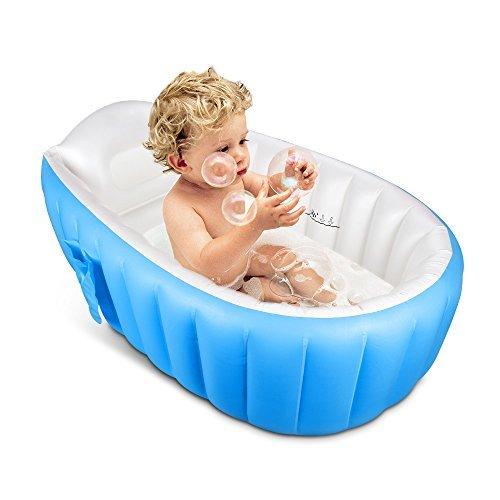 IWILCS Aufblasbare Neugeborene Kleinkind Babybadewanne (0-4 Jahre) Badewannensitz, Tragbare Aufblasbare Badewanne Planschbecken Schwimmbecken für Baby und Kleinkinder