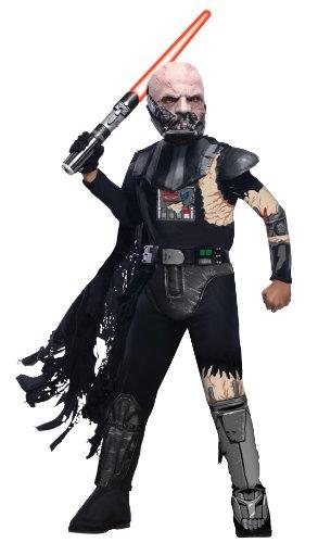 Deluxe Obi Kostüm Wan Kenobi - Rubies USA Star Wars Deluxe Darth Vader vs Obi Wan Kenobi Kostüm Kinderkostüm Kampf Gr. S-L, Größe:L