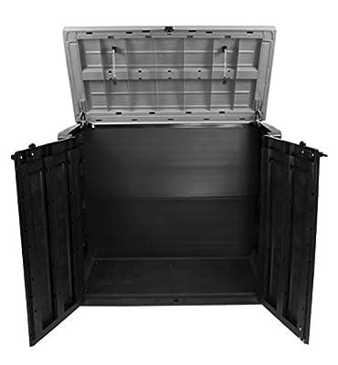 Keter Store It Out Max Gartenbox Mülltonnenbox Gerätebox Schuppen für 2 x 240 Liter Mülltonnen von Keter bei Du und dein Garten