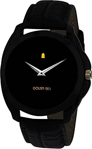 Golden Bell Analogue Black Dial Men\'s Watch-GB-201Blk