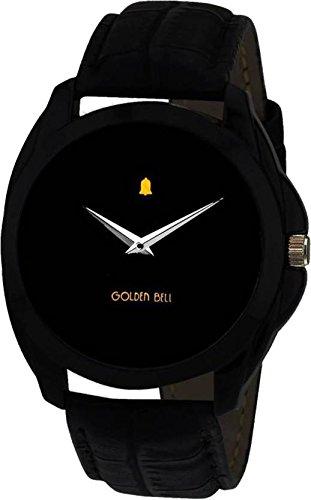 Golden Bell Analogue Black Dial Men\'s Watch-GB-201Blk