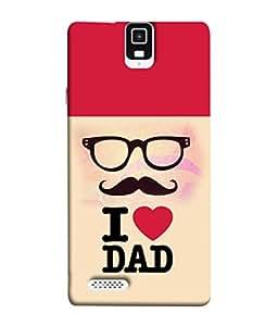 PrintVisa Designer Back Case Cover for Infocus M330 (Fathers Love PAPA)