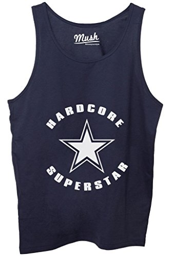 Canotta HARDCORE SUPERSTAR - FAMOSI by MUSH Dress Your Style - Uomo-M Blu Navy