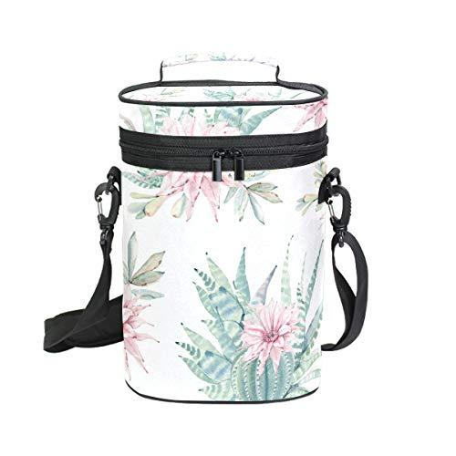 flaschen Kühltasche blühende Kaktusblüten inkl. Wein- / Wasserflaschentasche, 2 Stück ()