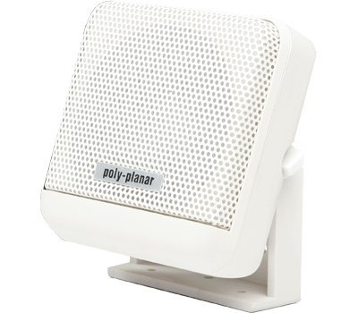 PolyPlanar VHF Extension Speaker 10W Surface Mount Single White by Poly-Planar -