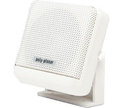 PolyPlanar VHF Extension Speaker 10W Surface Mount Single White by Poly-Planar Poly-planar Extension Speaker