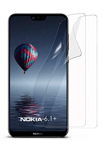 moex 2X Nokia 6.1 Plus | Schutzfolie Klar Bildschirm Schutz [Crystal-Clear] Screen Protector Display Handy-Folie Dünn Bildschirmschutz-Folie für Nokia 6.1 Plus Bildschirmfolie