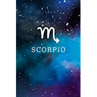 """Scorpio: Journal, Astrology Zodiac Symbol Horoscope Notebook, 6""""x9"""" Wide Ruled Blank Lined Composition, Personalized Birthday Gift for Kids Men Women"""