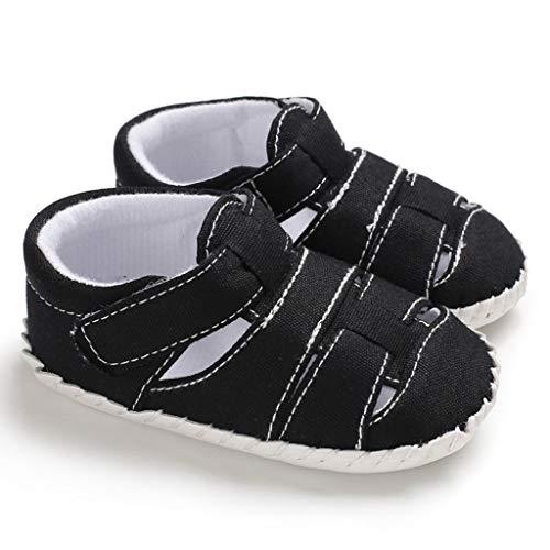 squarex Sommer Kleinkind Baby Jungen Süße weiche Sohle Erster Spaziergang Sandalen Schuhe mit Klettverschluss Turnschuhe Freizeitschuhe Atmungsaktiv