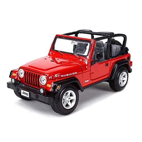 Maisto Modello Auto 1:24 High Simulator Modello in Metallo Auto Jeep Jeep Wrangler Model Car Lega Giocattoli per Bambini Collezione Regalo Scala Simulazione Veicolo ( Color : Black )
