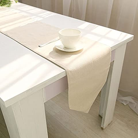 Memorecool Drapeau de table/chemin de lettres Motif Coton 30,5x 180,3cm Kaki, Coton, noletter, 13x79inch
