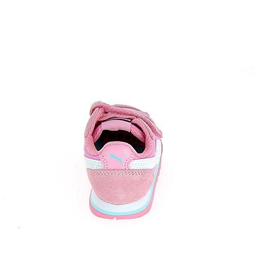 Puma St Runner Nl V Inf, Scarpe da Ginnastica Basse Unisex – Bambini rosa - weiß - blau