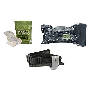 Quick-clot Combat Gauze with 6′ Emergency Care Bandage, CAT Gen 7 Tourniquet