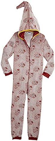 HARRY POTTER Pijamas de Una Pieza Que Brillan En La Oscuridad,Mono Infantil Entero Extra Suave con Capucha de