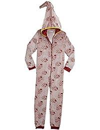 HARRY POTTER Pijamas de Una Pieza Que Brillan En La Oscuridad,Mono Infantil Entero Extra Suave con Capucha de Mago, Disfraz Ropa Invierno Niño,Regalos Originales Niña Niño