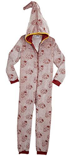 Harry potter pigiama intero per bambini grifondoro hogwarts, costume kigurumi onesie con capucha in morbido pile, pigiami interi fosforescente, tuta pigiama completo pile bambino bambina (9/10 anni)