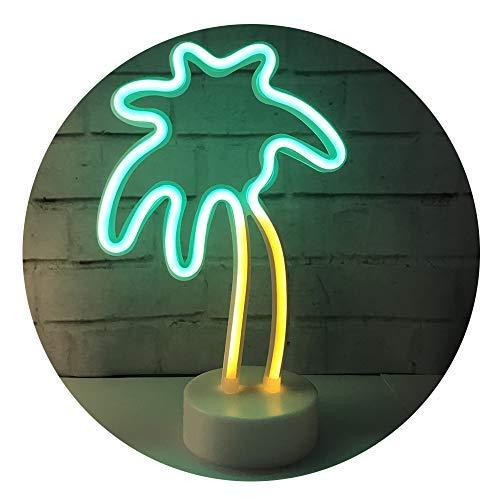 QiaoFei Style Nordique LED Cactus lumière, Tropical lumière Mignon Nuit lumière Lampe de Table pour Enfants, Chambre à Coucher, Cadeau, fête, Jardin, la décoration de la Maison (Vert)