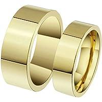 Epinki Donna Acciaio Inossidabile Anello Anelli Piatto Design Classico Matrimonio