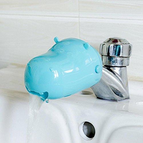 Wasserhahn Verlängerung für Kinder, vneirw Küche Spüle Cute Spüle Griff Erweiterung für Babys Sichere Hand Waschen, blau (Baby-badewanne Ersatzteile)
