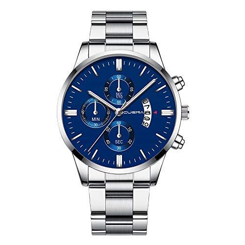 SUNFANY Mens Günstige Uhren Fashion Luxury Analog Quarz Datum Uhr Slim Minimalist Designer-Uhren mit Edelstahlband