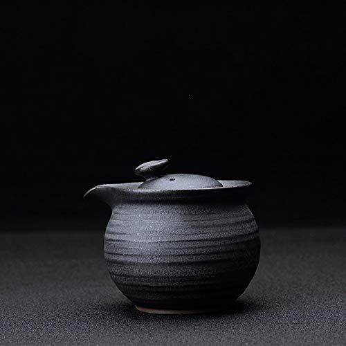 GBCJ juego de té Pote de agarre de la mano de cerámica de hierro japonés, cerámica cruda, anti escaldante, caldera rápida, máquina de hacer té de cerámica, juego de té de kung fu, tetera filtrante, o