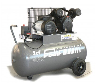 Compresseur courroie bi-cylindre v 100 l 2 cv PRODIF-v1851002m