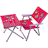 Dawnrays Present High Quality Kid's Study Table And Chair Combo Set, Metal Frame And Premium Built Table-Chair Set For Kids, Light-Weight & Convenient To Carry, Heavy Metal Body Frame And Designer Plywood Base Table-Chair Set For Kids | Multi-Purpose Table-Chair Set For Kids | Foldable Table-Chair Set For Kids | Wonderful Printed Table-Chair Set For Kid | Study Mate Table And Chair Study Set For Kid | Light-Weight Table And Chair Set For Kid(Design May Vary)