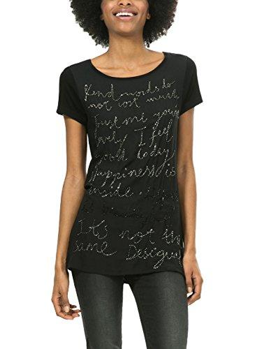 Desigual Damen T-Shirt Ts_arni Schwarz (NEGRO 2000)