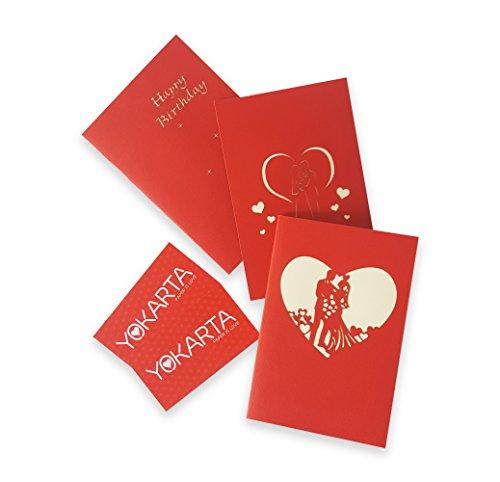 Biglietto Auguri Matrimonio Pop Up : Yokarta 3d biglietto pop up biglietto matrimonio biglietto