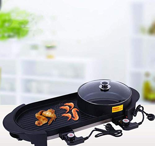 CY&Y Maifan Stein Grill Eintopf Pfanne Topf Koreanischer Elektro-Back-Grill Multifunktionsventile Elektro-Hot-Topf,2