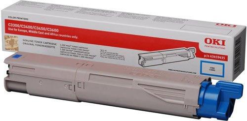Preisvergleich Produktbild OKI 43459435 C3300, C3400, C3450, C3600 Tonerkartusche Standardkapazität 1.500 Seiten, cyan