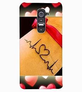 ColourCraft Love Design Back Case Cover for LG G2