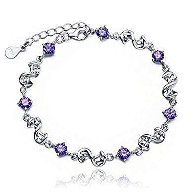 Pulseras de mujeres - SODIAL(R)Pulseras purpuras atractivas para mujeres pulsera...