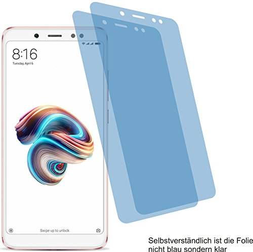 2x Crystal clear klar Schutzfolie für Xiaomi Redmi Note 5 Pro Displayschutzfolie Bildschirmschutzfolie Schutzhülle Displayschutz Displayfolie Folie