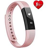 Fitness Tracker mit herzfrequenz Lintelek Fitness Uhr Fitness Armband Uhr Step Tracker Kalorienzähler aktivitätstracker Schrittzähler Uhr SMS Anrufe