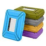 [5-farb]SISUN Professional Premium Antistatische Hard Drive Protection Box für 3,5 / 2,5-Zoll-HDD Storage Grau / Lila / Gelb / Blau / Grün (3,5