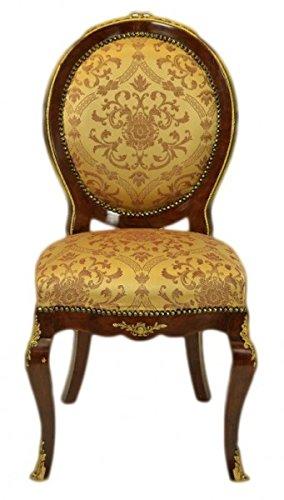 Casa Padrino Baroque luxury dining room chair Medallion Gold Pattern