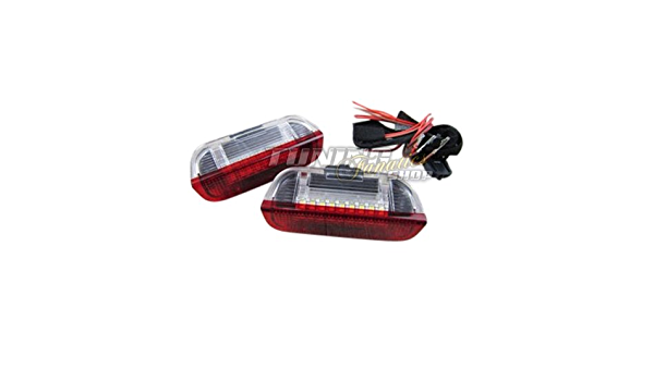 2x Led Smd Türbeleuchtung Innenraumbeleuchtung Rot Weiß Auto
