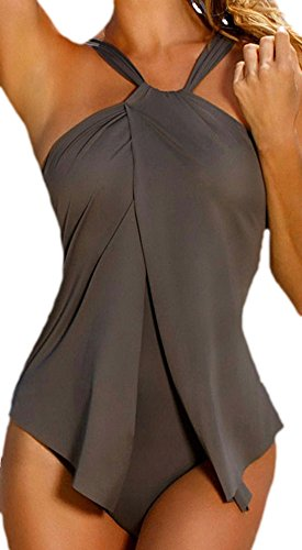 erdbeerloft - Damen Fashion Bat Badeanzug