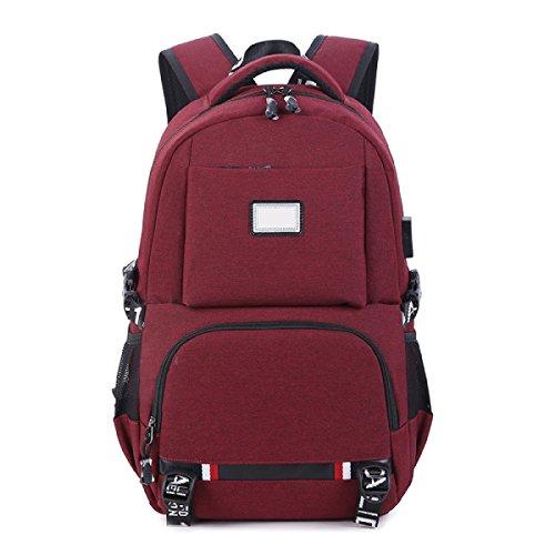 Rucksack USB Aufladbare Rucksack Student Tasche Freizeit Reisen Große Kapazität Computer Tasche Winered