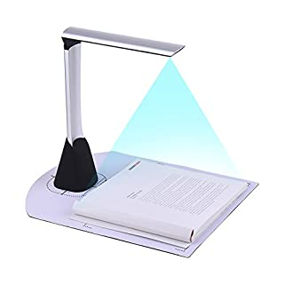 Aibecy Portable High Speed USB Book Image Document Camera Scanner 5 Mega-Pixel HD High-Definition Max A4 Scanning Size with OCR Function LED Light for Classroom Office Library Bank