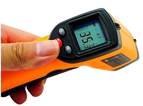 Denshine pistola láser termómetro Digital de la temperatura para tuberías de agua caliente/superficies de cocción/frío y productos alimenticios/calefacción y aire acondicionado