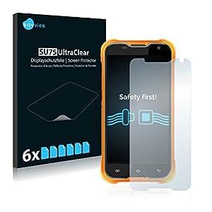 6x Savvies Film Protection pour Blackview BV5000 Protection écran Film Protecteur Transparent